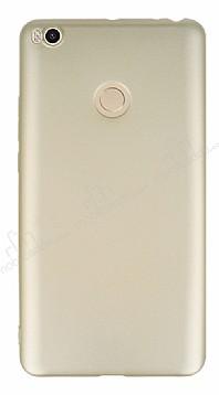 Xiaomi Mi Max 2 Mat Gold Silikon Kılıf