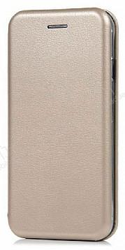 Xiaomi Mi Note 3 Curve Manyetik Kapaklı Gold Deri Kılıf