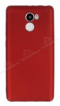 Xiaomi Redmi 4 Mat Kırmızı Silikon Kılıf