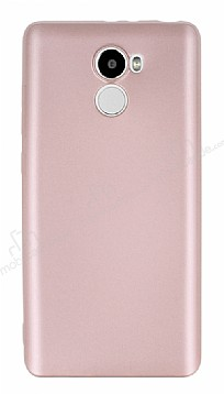Xiaomi Redmi 4 Mat Rose Gold Silikon Kılıf