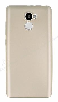 Xiaomi Redmi 4 Mat Gold Silikon Kılıf