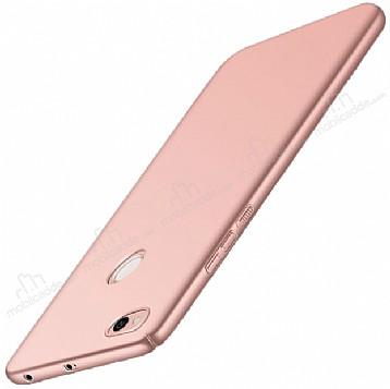 Xiaomi Redmi 4X Tam Kenar Koruma Rose Gold Rubber Kılıf