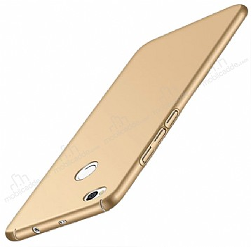 Xiaomi Redmi 4X Tam Kenar Koruma Gold Rubber Kılıf