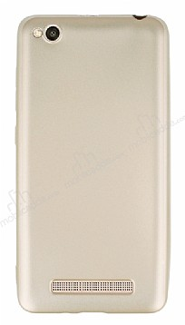 Xiaomi Redmi 4A Mat Gold Silikon Kılıf