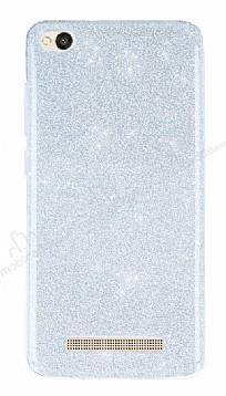 Xiaomi Redmi 4A Simli Silver Silikon Kılıf