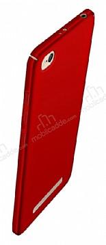 Xiaomi Redmi 4A Tam Kenar Koruma Kırmızı Rubber Kılıf
