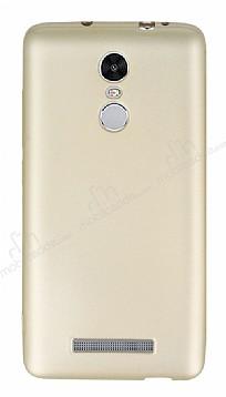 Xiaomi Redmi Note 3 Mat Gold Silikon Kılıf