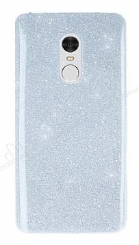 Xiaomi Redmi Note 4 Simli Silver Silikon Kılıf