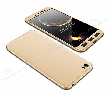 Eiroo Protect Fit Xiaomi Redmi Note 5A 360 Derece Koruma Gold Rubber Kılıf