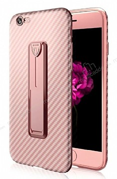 Xundd Vision Series iPhone 6 / 6S Karbon Rose Gold Silikon Kılıf