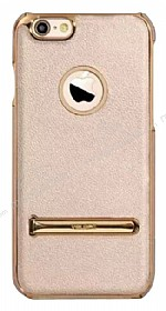 YOLOPE iPhone 6 / 6S Standl� Gold Rubber K�l�f