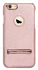 YOLOPE iPhone 6 Plus / 6S Plus Standlı Rose Gold Rubber Kılıf