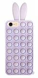 iPhone 7 / 8 Push Pop Bubble Tavşan Mor Silikon Kılıf