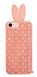iPhone 7 / 8 Push Pop Bubble Tavşan Pembe Silikon Kılıf