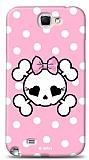 Dafoni  Samsung N7100 Galaxy Note 2 Pink Skull K�l�f