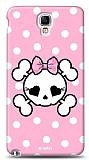 Dafoni  Samsung N7500 Galaxy Note 3 Neo Pink Skull K�l�f