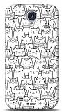 Dafoni  Samsung Galaxy i9500 S4 Cats K�l�f