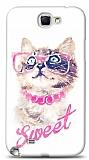 Dafoni Samsung N7100 Galaxy Note 2 Sweet Cat K�l�f