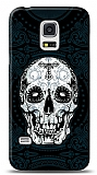 Samsung Galaxy S5 mini Black Skull Kılıf