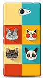 Sony Xperia M2 Four Cats Kılıf