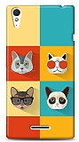 Sony Xperia T3 Four Cats Kılıf