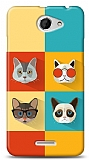 HTC Desire 516 Four Cats Kılıf