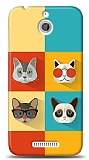 HTC Desire 510 Four Cats Kılıf