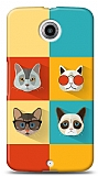 Motorola Nexus 6 Four Cats Kılıf