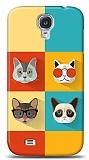 Dafoni Samsung Galaxy i9500 S4 Four Cats K�l�f