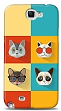 Dafoni Samsung N7100 Galaxy Note 2 Four Cats K�l�f