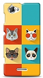 Sony Xperia L Four Cats Kılıf