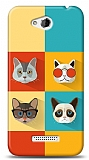 HTC Desire 616 Four Cats Kılıf