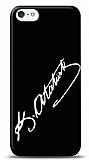 Dafoni iPhone 5 / 5S Ataturk �mza Siyah K�l�f