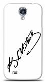 Dafoni Samsung Galaxy i9500 S4 Atat�rk �mza Beyaz K�l�f
