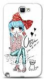 Dafoni Samsung N7100 Galaxy Note 2 Cute Chic K�l�f