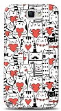 Dafoni Samsung N7100 Galaxy Note 2 Love Cats K�l�f