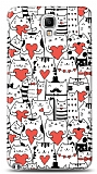 Dafoni Samsung N7500 Galaxy Note 3 Neo Love Cats K�l�f