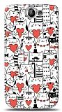 Dafoni Samsung Galaxy W i8150 Love Cats K�l�f