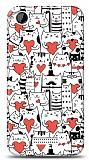 Dafoni HTC Desire 320 Love Cats K�l�f