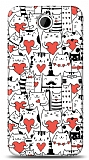 Dafoni HTC Desire 300 Love Cats K�l�f