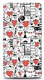 Microsoft Lumia 535 Love Cats Kılıf