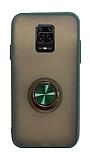 Dafoni Union Ring Xiaomi Redmi Note 9 Pro Ultra Koruma Yeşil Kılıf