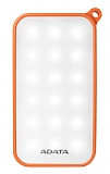 Adata IP54 8000 mah Led Işıklı Turuncu Powerbank Yedek Batarya