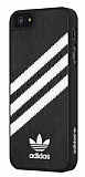 adidas iPhone 5 /5S Siyah Deri Rubber K�l�f