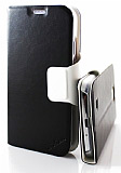Aidian Samsung i9500 Galaxy S4 Yan Kapakl� Deri K�l�f