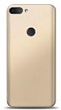 Alcatel 1s Gold Mat Silikon Kılıf