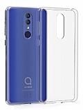 Alcatel 3 2019 Ultra İnce Şeffaf Silikon Kılıf