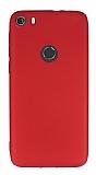Alcatel idol 5 Mat Kırmızı Silikon Kılıf