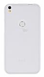 Alcatel Shine Lite Şeffaf Beyaz Silikon Kılıf