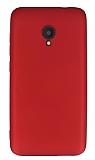 Alcatel U5 / U5 Plus Mat Kırmızı Silikon Kılıf